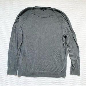 Banana Republic grey silk cotton sweater XL